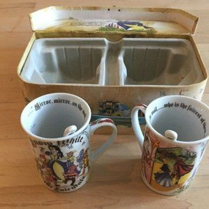 NEW CARDEW SNOW WHITE SET OF 2 MUGS & SPOONS BNIB